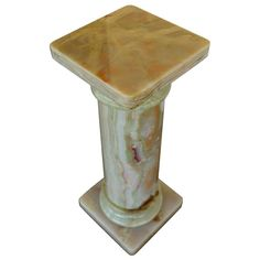 Onyx Column Pedestal   From a unique collection of antique and modern pedestals at https://www.1stdibs.com/furniture/tables/pedestals/