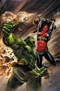 Today`s Picture Hulk vs Red She-Hulk ®  Auction your comics on http://www.comicbazaar.co.uk