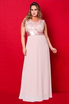 Vestidos Plus Size - Aiza Collection Mais Plus Size Party Dresses, Trendy Dresses, Women's Fashion Dresses, Plus Size Outfits, Cute Dresses, Beautiful Dresses, Fashion Styles, Bridesmaid Dresses, Prom Dresses