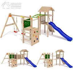 ISIDOR Bali Loo Spielturm Spielhaus Kletterturm Rutsche Schaukel Stelzenhaus