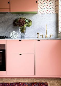 Talking Pattern & Colour with Anna Spiro | The English Tapware Company Sorrento Beach, Halcyon House, Anna Spiro, Kitchen Confidential, Yellow Doors, Bathroom Collections, Kitchen Taps, Types Of Houses, Architecture Details