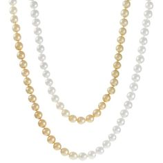 An opera length strand of shaded gold through to white semi-round South Sea pearls measuring 11 - 12mm with a bright lustre and some natural surface marks. 78 pearls. #Rutherford #Melbourne