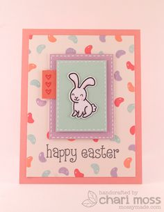 Lawn Fawn - Happy Easter _ card by Chari Moss