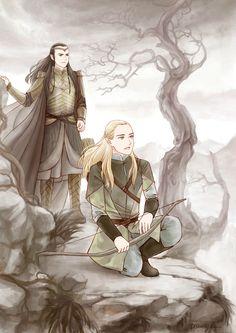 Леголас,Элронд