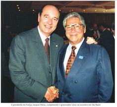 Mário Covas e o Presidente da França, Jacques Chirac