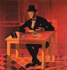 Almada Negreiros, Retrato de Fernando Pessoa on ArtStack Art Deco, Art Nouveau, Henri Matisse, Caricature, Modern Art, Illustration Art, Museum, Tapestry, Canvas