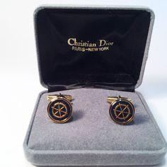 Vintage Christian Dior Men's Cufflinks Gold by GretelsTreasures