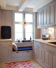 kitchen nook, ours would sneak into the corner like this...