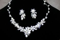 Bridal Necklace And Earrings / Bridal Pearl & by lyndahats on Etsy