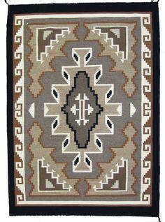 Navajo Rug : Exceptional Extra Fine Navajo Two Gray Hills Rug by Ella Mae Taylor #294