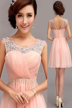 Short Prom Dress,Beading Homecoming Dress,Party Dress