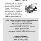 These are great Worksheets, Interactive Notebook pages, homework or classroom activity for teaching about the Industrial Age in America.  Students ...