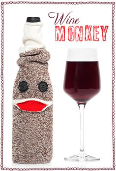 maybe the cutest wine cover ever, great for wine gift