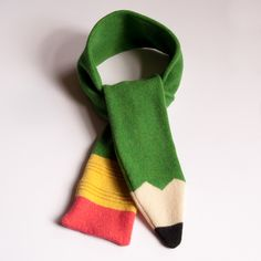 Lambswool+Green+Pencil+Scarf+-+Made+to+order £44.00