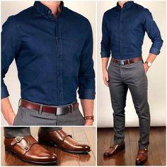 Formal Men Outfit, Men Formal, Winter Formal, Formal Wear, Camisa Social Jeans, Mens Fashion Suits, Fashion Outfits, Fashion Boots, Fashion Blouses