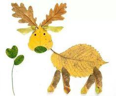 Leaf art - reindeer