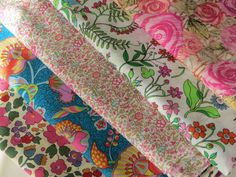 Liberty of London Fabric Bundle Tessuti Tana Lawn Tissu Floral cotton fabric Patchwork Gift crafter by FitaDeVies