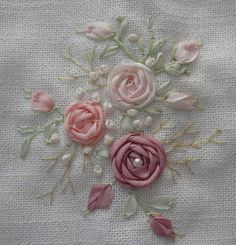 Silk Ribbon Embroidery: Stitches - French Knot More