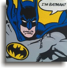 Items similar to Comic Book Hero Canvas Art Painting - Superman, Spiderman, Batman + more on Etsy Batman Painting, Batman Artwork, Painting Art, Superhero Pop Art, Batman Pop Art, Batman Poster, Comic Art, Comic Book, Collaborative Art