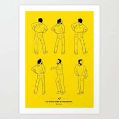 It's Always Sunny In Philadelphia Art Print by Niege Borges | Society6 - Charlie's Butt Dance