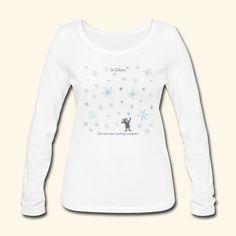 Just wish upon a falling snowflake in Winter - Frauen Bio-Langarmshirt von Stanley & Stella | mnutzDesign T Shirt Designs, Winter, Long Sleeve, Nature, Sleeves, Sweaters, Tops, Women, Fashion
