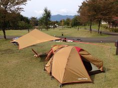 Tent of Amenity dome * snowpeak Camping Style, Camping Car, Outdoor Camping, Outdoor Gear, Lightweight Tarp, Snow Peak, Japanese Cars, Outdoor Activities, Backpacking