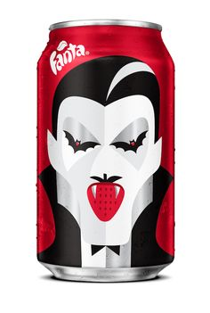 Fanta Halloween Can - Special edition designed by NOMA BAR /// - #Dracula #Strawberry #packaging