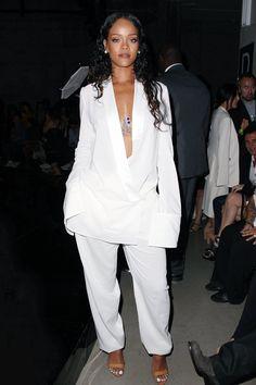 Rihanna at Edun fashion show in NYC.