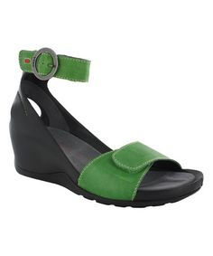 58902dca8cf4 Loving this Apple Green Ka Leather Sandal on  zulily!  zulilyfinds Green  Fashion