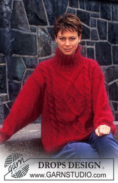 DROPS Sweater in VIENNA with cables. ~ DROPS Design