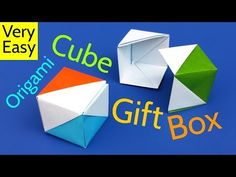 How to Make a DIY Origami Cube Gift Box with Lid (Flag Box) - Easy Tutorial, My Crafts and DIY