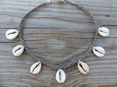 Cowrie Shell Choker Necklace Braided Traditional by CatandWinnies