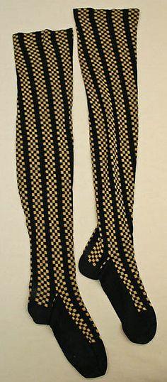 Late 19th Century Stockings  Culture: American  Medium: cotton