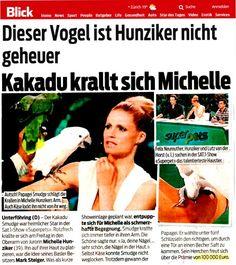 Blick Zeitung - Michelle Hunziker und Kakadu Smudge