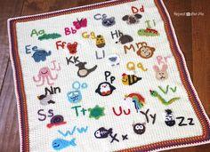 Animal Alphabet Crochet Afghan
