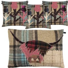 We love our Highland Cow and Thistle Cushions