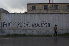 Fuck your rules....ένα σύνθημα κατά της άδικης συμφωνίας Ε.Ε. - Τουρκίας