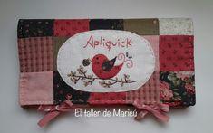 El taller de Maricú: Estuche Apliquick. Sunbonnet Sue, Needle Book, Reindeer, Embroidery Patterns, Patches, Quilts, Sewing, Crochet, Handmade