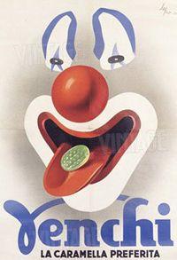Vintage Italian Posters ~ #Italian #vintage #posters ~ Manifesto delle caramelle Venchi, realizzato da Sepo. Fonte: Venchi S.p.A., Castelletto Stura (CN)