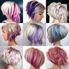 71 most popular ideas for blonde ombre hair color - Hairstyles Trends Purple Hair, Ombre Hair, Wavy Hair, Dyed Hair, Purple Highlights Blonde Hair, Balage Hair, Coily Hair, Short Hair Cuts, Short Hair Styles