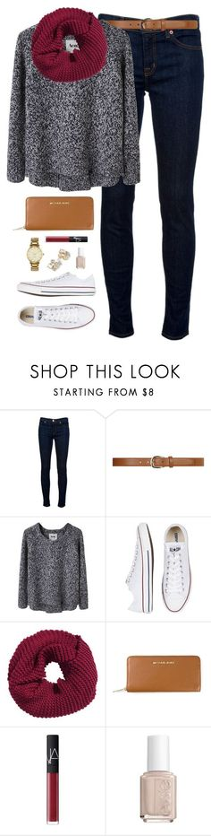 ootd by classically-preppy on Polyvore featuring Acne Studios, J Brand, Converse, MICHAEL Michael Kors, H&M, Dorothy Perkins, NARS Cosmetics, Essie and Kate Spade