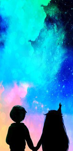 Star Butterfly y Marco Diaz. Cute Wallpaper Backgrounds, Wallpaper Iphone Cute, Cute Cartoon Wallpapers, Disney Wallpaper, Galaxy Wallpaper, Star E Marco, Couple Wallpaper, Starco, Star Butterfly