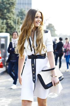 Kristina Bazan in Louis Vuitton - March 11, 2015 #PFW | www.thedailylady.eu | the daily lady #thedailylady |