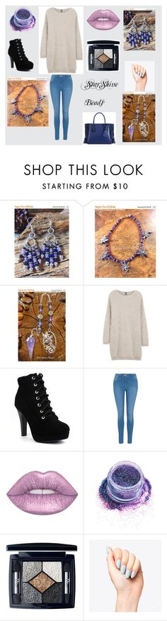 """""""Starshine Beads"""" by sharon-pipkin ❤ liked on Polyvore featuring Eleventy, George, In Your Dreams, Christian Dior and Longchamp"""