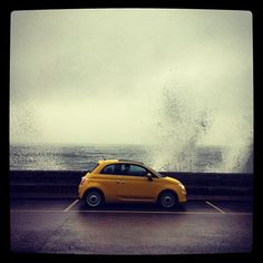 The waves won't stop #Fiat500 #ColorTherapy #yellow