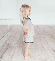 Zara striped blouse and short set