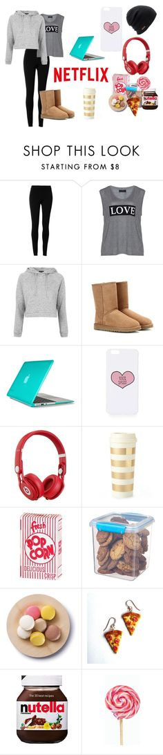 """""""~Lazy Day~"""" by crazytaylah-22 ❤ liked on Polyvore featuring Max Studio, Carmakoma, Topshop, UGG Australia, Speck, Beats by Dr. Dre, Kate Spade, Sistema, Cultural Intrigue and Junk Food Clothing"""