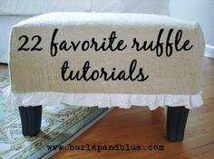 22 Favorite Ruffle Tutorials by inarafiredragon