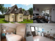 2 Designs of Affordable Living Homes in Chile You Can Copy Box House Design, Small House Design, Cool House Designs, Small Cottage Designs, Modern Bungalow House, Beautiful Small Homes, Three Bedroom House, Small Cottages, Box Houses