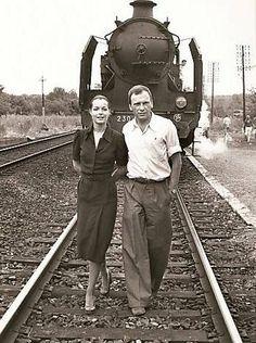 Romy Schneider & Jean-Louis Trintignant film superbe : le train beau couple de cinéma !